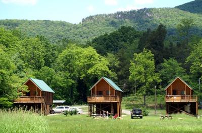Hook line sinker river log cabins shenandoah river for Log cabins in shenandoah valley